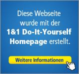 Diese Website wurde mit der 1&1 Do-It-Yourself Homepage erstellt