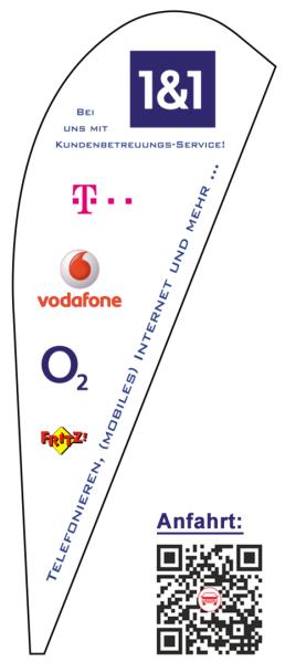 Anfahrt und Anbieter-Logos - Bei uns mit Kunden-Betreuungs-Service