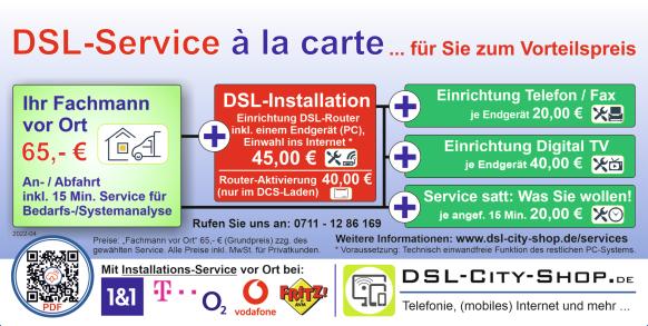 DSL-Service à la carte