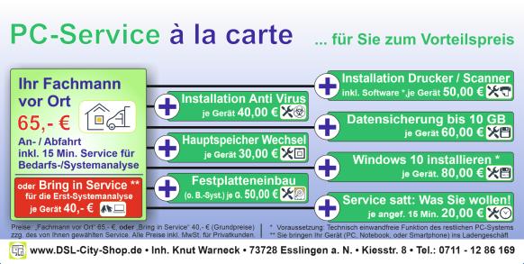 PC-Service à la carte