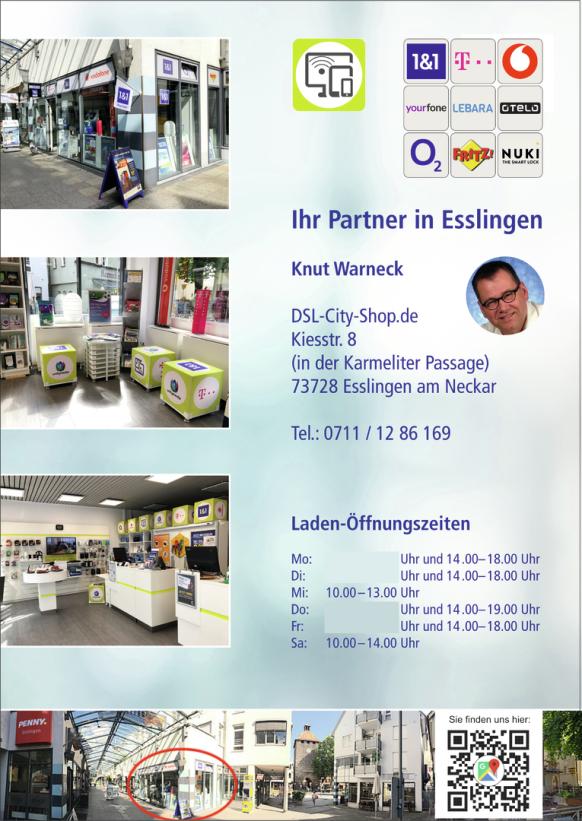 Unser inovatives Ladengeschäft in Esslingen am Neckar für den Großraum Stuttgart